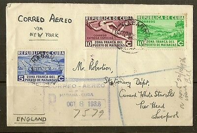 1936 Registered Cover to Liverpool