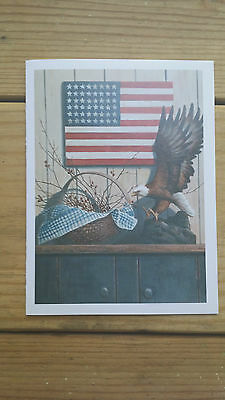 AMERICAN FLAG AND EAGLE Greeting Card
