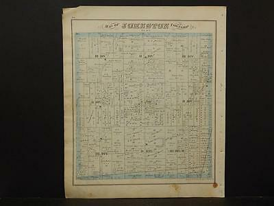 Ohio, Trumbel County Map, 1874 Township of Vernon or Johnston Double Sided K4#05