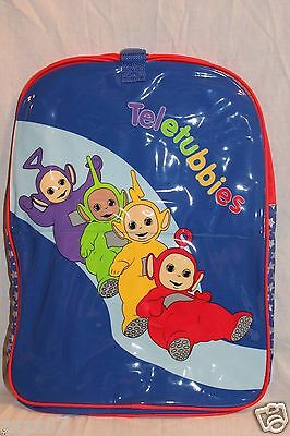 """New With Tags Teletubbies Purple Backpack Laa-Laa ,po, Tinky Winky ,dipsy11""""x14"""""""
