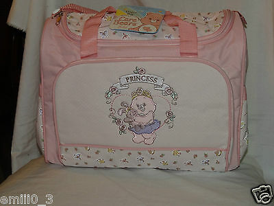 New With Tag Care Bears Girls Princess Diaper Bag With Change Pad,