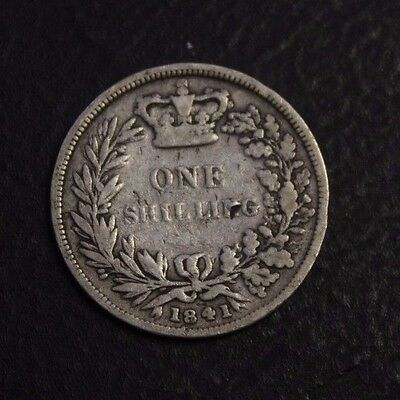 1841 Great Britain one Shilling low grade
