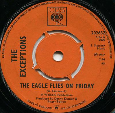 Exceptions*the Eagle Flies On Friday*mod*blue Eyed Dancer