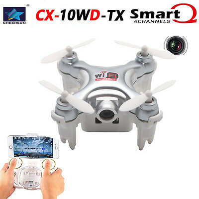 Cheerson CX-10WD TX Caméra WIFI FPV HD 4CH 2.4Ghz 6-Axes RC Quadcopter Drone