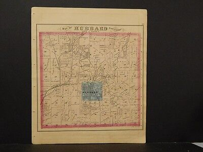 Ohio, Trumbel County Map, 1874 Township of Hubbard K4#10