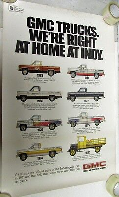 1983 GMC Truck Indianapolis 500 Official Pickup Indy Hauler Race History Poster