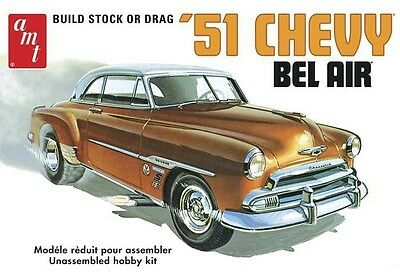 1951 Chevy Bel Air 1/25 scale skill 2 AMT plastic model kit#862