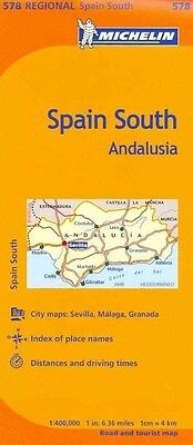 Michelin Spain: Andalucia Map 578 by Michelin Travel & Lifestyle Folded Book (Mu