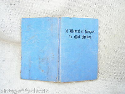 A Manual Of Prayers For Girl Guides ~ Pocket-Sized Book 1955