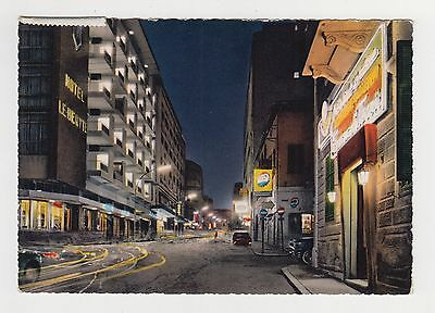 Lebanon BEIRUT Phoenicia Street by Night Vintage 1960s Color Photo Postcard