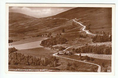 The Tomintoul To Grantown Road Banff Real Photograph JB White 7716 Old Postcard