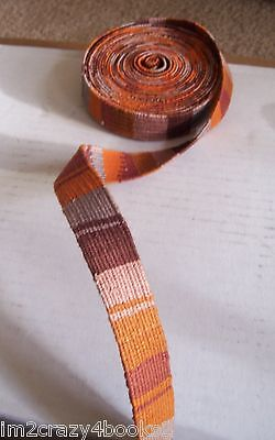 Handwoven Guatemalan Bands Sashes Per Yard Inkle Pick-Up Double-Sided Belts Trim
