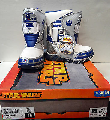 NEW Star Wars R2-D2 Light Up Winter Snow Boots Toddler Size 7, 10,