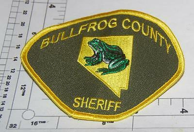 Defunct-Bullfrog County Nevada Sheriff Shoulder-Patch State Shape in Design
