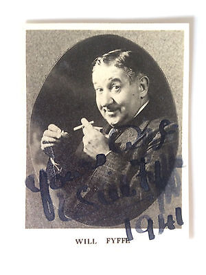 Original Hand Signed Autograph - Will Fyffe - Comedian & Actor - 1941