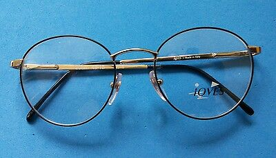 Vintage    Glasses  Round  Frame New   Old  Stock. 48/18  Made  In  Italy  .