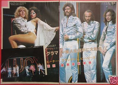 Bee Gees Barry Gibb Robin Maurice Peter Frampton 1978 Clipping Japan Ml 6A 3Page