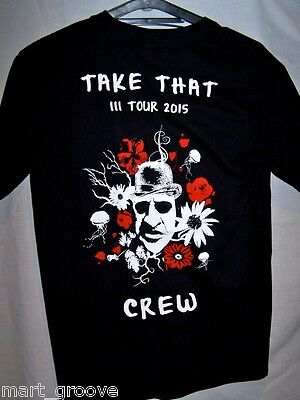 Official Take That Crew T shirt NEW 2015 III tour black XL Extra Large 3 three