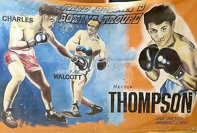 .super Rare Fred Brophy Boxing Troupe Huge Handpainted Banner. 6M X 4M