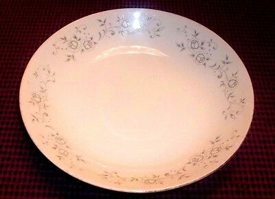 """REPLACEMENT Fine China of Japan Platinum Rose Soup Bowl 7 3/4"""" Wide"""