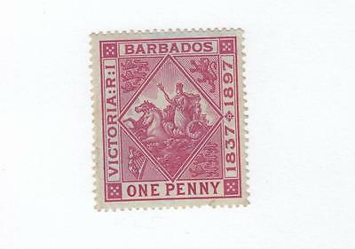 BARBADOS # 83a VF-MLH 1p CAT VALUE $45+