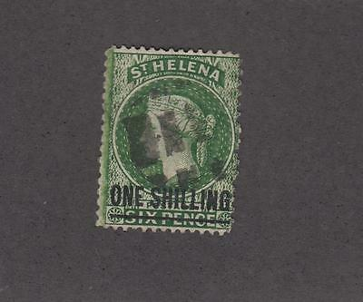 ST HELENA # 39 1sh SURCHARGE LIGHT USED CAT VALUE $30+