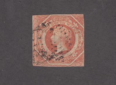 NEW SOUTH WALES # 31a VERY LIGHT USED 1sh QUEEN VICTORIA CAT VALUE $110