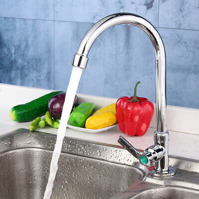 Kitchen/Bathroom 360° Rating Deck Mounted Bar Sink Faucet Single Cold Water Tap