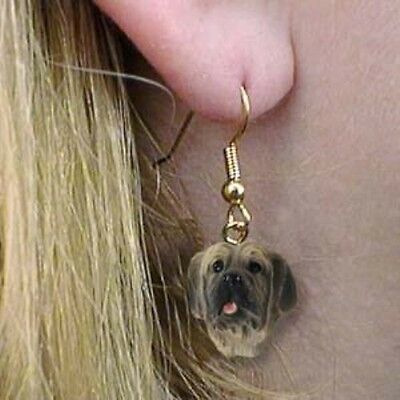 Dangle French Wire MASTIFF Dangle Dog Earrings CLEARANCE SALE