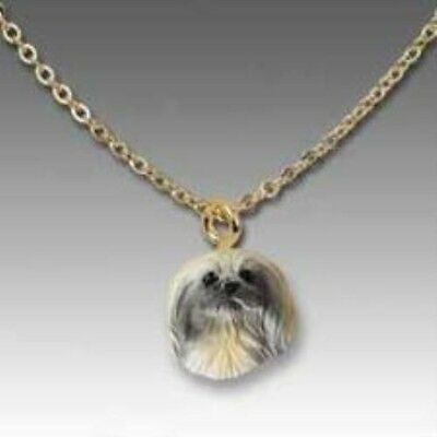 Dog on Chain PEKINGESE Dog Head Necklace CLEARANCE SALE