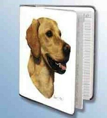 Retired LAB RETRIEVER YELLOW Softcover Address Book artwork by Robert May