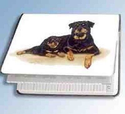 Retired ROTTWEILER Softcover Address Book artwork by Robert May