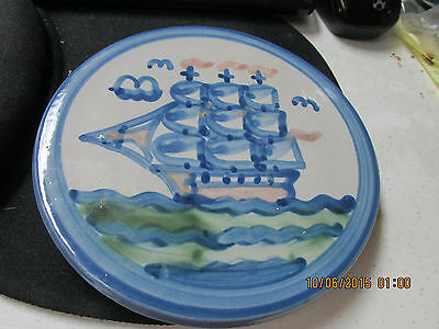 M. A. HADLEY  Sailboat  6 3/8 TRIVET OR WALL HANGING  #2  Great Piece   L@@K