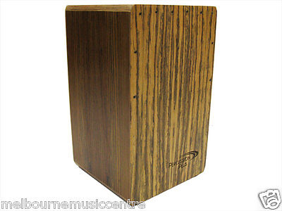 PERCUSSION PLUS CAJON Walnut Front Top Back & Sides *w/Padded Bag* NEW!