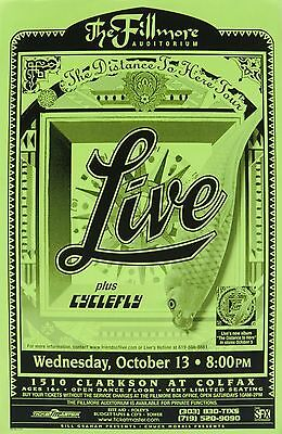 "Live ""distance To Here Tour"" 1999 Concert Poster From Denver"