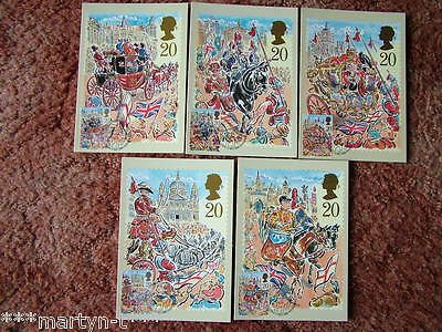 PHQ Cards FDI Front No 121 The Lord Mayors Show 1989 5 card set. Mint Condition
