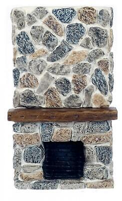 Dolls House Floor to Ceiling Stone Fireplace 1:12 Scale Resin