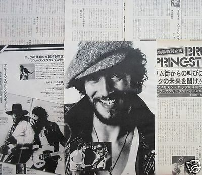 Bruce Springsteen 1975 Clipping Japan Magazine Os 11A 10Page