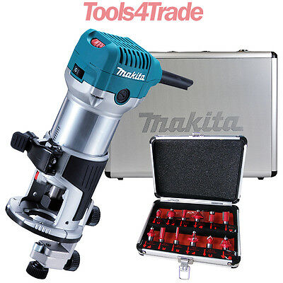 Makita RT0700CX4 1/4inch Router / Trimmer 240V with 12 Piece Cutter Set & Case