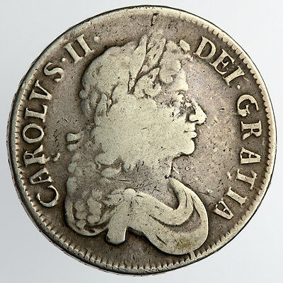 Charles II Crown 1676 V Octavo - Spink 3358 (470)
