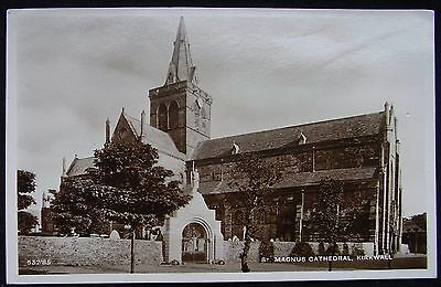 Old Real Photo Postcard - St Magnus Cathedral, Kirkwall, Orkney, Scotland
