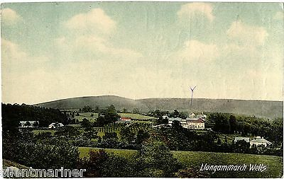 Llangammarch Wells, old coloured postcard, posted 1907