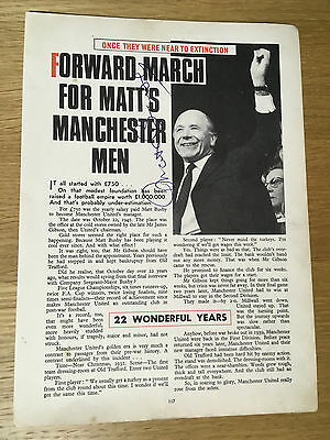 Fantastic Matt Busby signed picture article Manchester United manager