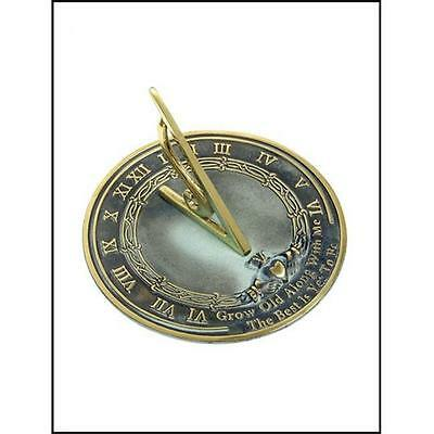 Rome Industries 2308 Brass Grow Old With Me Sundial