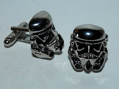 Pareja De Gemelos Plateados De Soldado Trooper  Star Wars - Trooper Cufflinks