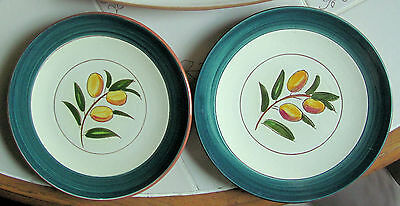 "Stangl Pottery  2 Pieces 8"" Kumquat Dishes"