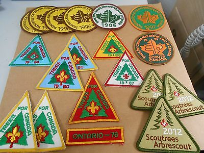 (Ro4-R)  Nineteen  Trees For Canada Badges  Canadian Scout Badges