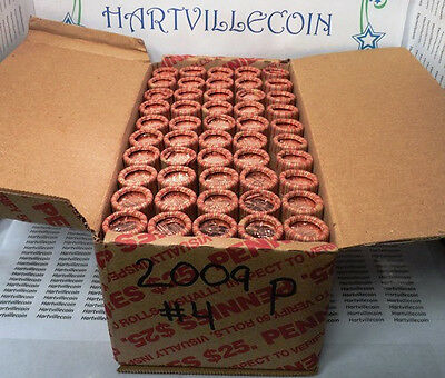 "1- $25 Boxes - 2009-P Lincoln Cent ""Presidency"" (LP4)  - 50 Rolls"