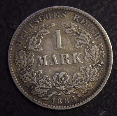 GERMANY 1886 F 1 Mark very nice condition