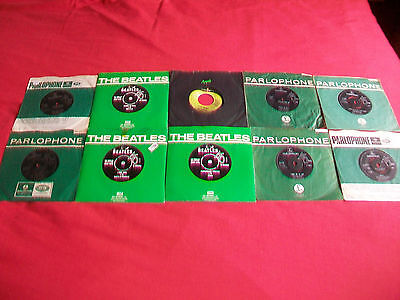The Beatles Collection Of 10 Singles - Slow Down, Fine,ticket,hard,paperback Etc